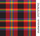rainbow plaid  checkered ... | Shutterstock .eps vector #1927378742