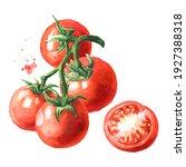 Fresh Ripe Cherry Tomatoes On...