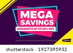 mega savings discounts up to 50 ... | Shutterstock .eps vector #1927395932