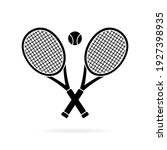 Tennis Rackets Crossed And Ball ...