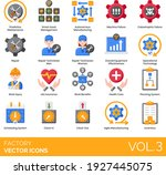 factory icons including... | Shutterstock .eps vector #1927445075