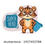 tiger cartoon character. vector ... | Shutterstock .eps vector #1927452788