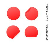blank red paper circle stickers ...   Shutterstock .eps vector #1927453268