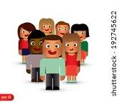 group of children.  | Shutterstock .eps vector #192745622