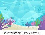 under the sea background.... | Shutterstock .eps vector #1927459412
