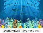 under the sea background.... | Shutterstock .eps vector #1927459448