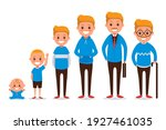 human of different ages cartoon ... | Shutterstock .eps vector #1927461035
