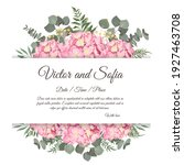 floral design for wedding... | Shutterstock .eps vector #1927463708