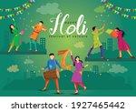 happy holi indian festival ... | Shutterstock .eps vector #1927465442