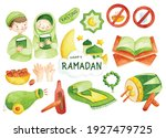 hand drawn ramadan doodle in...   Shutterstock . vector #1927479725