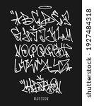 street graffiti tag font ... | Shutterstock .eps vector #1927484318