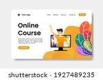 online course landing page with ...