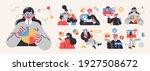 business concept illustrations. ... | Shutterstock .eps vector #1927508672