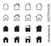 home icon set. simple vector... | Shutterstock .eps vector #1927514135