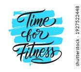 time for fitness motivational... | Shutterstock .eps vector #1927522448