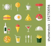 food icons  flat design | Shutterstock .eps vector #192753056