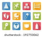 baby icons  flat design | Shutterstock .eps vector #192753062