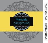 flower mandala. oriental... | Shutterstock .eps vector #1927553342