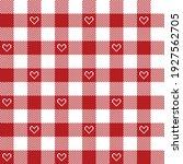 gingham pattern for valentines... | Shutterstock .eps vector #1927562705