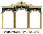 golden luxury classic arch with ... | Shutterstock .eps vector #1927563842