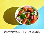 Spring Salad With Tomatoes Red...