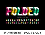 folded style font  typography... | Shutterstock .eps vector #1927617275
