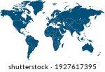 world map color vector modern.... | Shutterstock .eps vector #1927617395