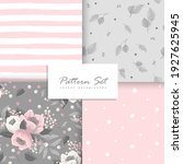 romantic seamless vector floral ... | Shutterstock .eps vector #1927625945