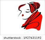 vector handmade fashion digital ... | Shutterstock .eps vector #1927631192