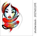 vector handmade fashion digital ... | Shutterstock .eps vector #1927631195