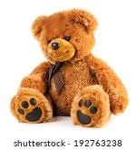Toy Teddy Bear Isolated On...