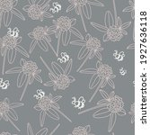 A Hand Drawn Floral Pattern Of...