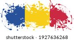 flag of romania ink splatter  ... | Shutterstock .eps vector #1927636268
