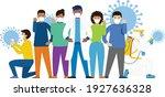 covid 19 battle   editable... | Shutterstock .eps vector #1927636328
