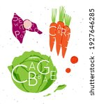 set of color vegetables with...   Shutterstock .eps vector #1927646285