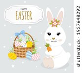 happy easter greeting card with ...   Shutterstock .eps vector #1927648292