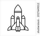 vector icon rocket flying on... | Shutterstock .eps vector #1927649012