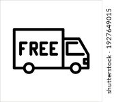 free shipping truck icon design ... | Shutterstock .eps vector #1927649015