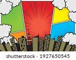 comic style frame split frame... | Shutterstock .eps vector #1927650545