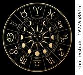 vector illustration of zodiac...   Shutterstock .eps vector #1927658615