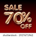 3d golden 70 percent discount... | Shutterstock .eps vector #1927671962