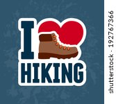 hiking boot sticker graphic... | Shutterstock .eps vector #192767366