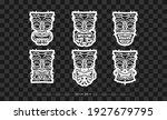 polynesia mask pattern set. the ...   Shutterstock .eps vector #1927679795