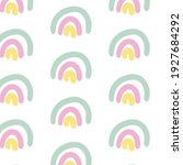 seamless childish pattern with... | Shutterstock .eps vector #1927684292