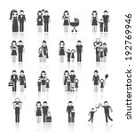 family figures icons set of... | Shutterstock .eps vector #192769946