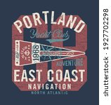 atlantic ocean yacht club... | Shutterstock .eps vector #1927702298