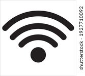 wifi icon with flat design... | Shutterstock .eps vector #1927710092