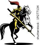 knight attacking | Shutterstock . vector #19277134