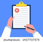 doctor holding clipboard and...   Shutterstock .eps vector #1927737575