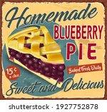 vintage homemade blueberry pie...   Shutterstock .eps vector #1927752878